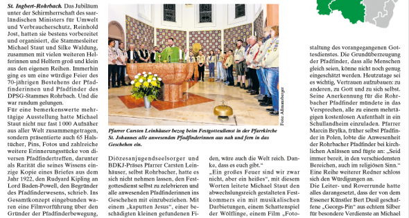 DPSG-Rohrbach-Saar – Bericht Stammesjubiläum mit Fairtrade-Frühstrück Thumbnail